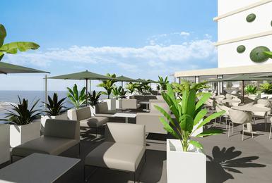 Terrasse- Renoviert im 2020 AluaSoul Palma (Nur Für Erwachsene) Hotel Cala Estancia, Mallorca